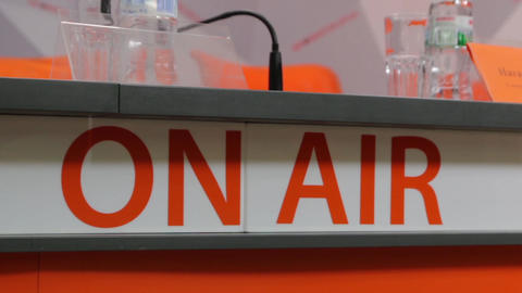 On Air Sign In Studio Footage