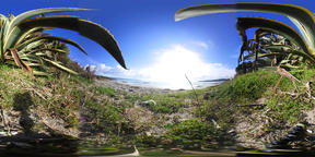 360 vr video of Le Bombarde beach on a sunny day VR 360° Video