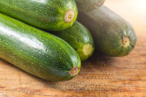 Zucchini ready to be cut Photo