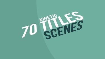 70 Kinetic Titles Scenes แม่แบบ Apple Motion