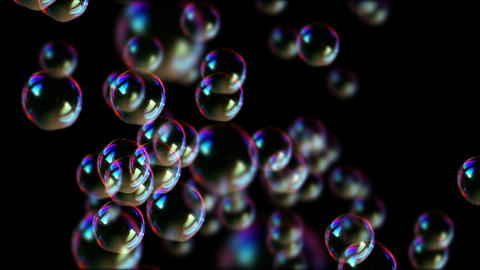 Soap bubbles float in air Animation