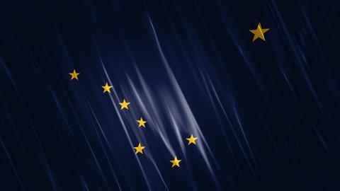 Alaska State Loopable Flag Animation