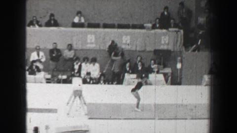 1968: Miroslava Skleničková Czechoslovakia vault women's gymnastics Summer Oly Footage