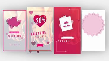 Valentine Instagram Stories モーショングラフィックステンプレート