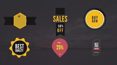 Modern Sales Badge Pack V1 Motion Graphics Template