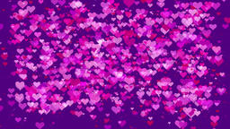 seamless looping Valentine's / Marriage love heart background Animation