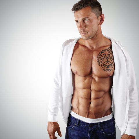 Male fitness model Photo