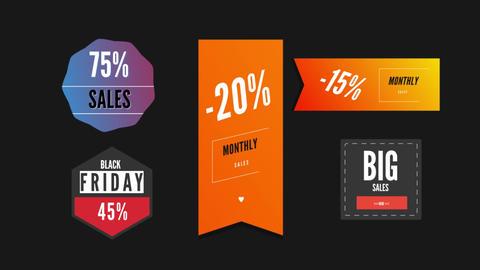 Modern Sales Badges Pack V2 Motion Graphics Template