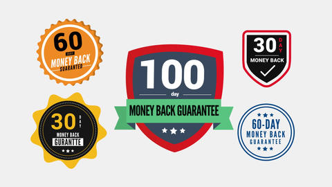 Money Back Guarantee Badges Motion Graphics Template