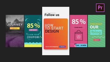 Instagram Clean Stories V2 モーショングラフィックステンプレート