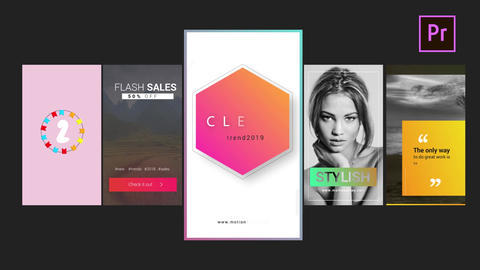 Instagaram Clean Stories V3 Motion Graphics Template