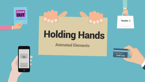 Animated Holding Hands Pack Motion Graphics Template