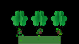 Happy St Patricks day animation with blank banner for own…, Stock Animation