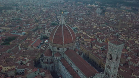 Aerial view on the city and Cathedral of Santa Maria del Fiore Archivo