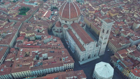 Aerial view on the city and Cathedral of Santa Maria del Fiore. Florence Archivo