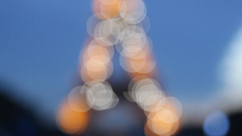 Eiffel tower. Dynamic sketch with motion blur Live Action