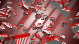 Heart Gift Boxes 3D Animation CG動画素材