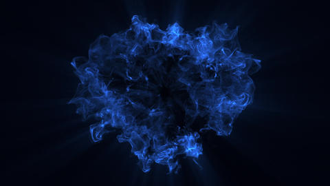 10 Blue Particles Shockwaves Overlay Graphic Elements Animation