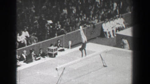 1968: Linda Metheny USA women's gymnastics balance beam Summer Olympic Games Live Action