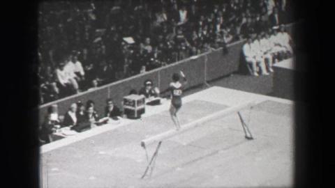 1968: Linda Metheny 2 USA women's gymnastics balance beam Summer Olympic Games Live Action