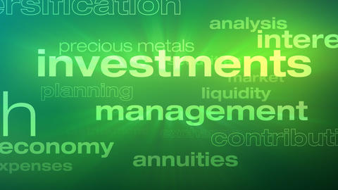 Money and Investment Words Loop Animation