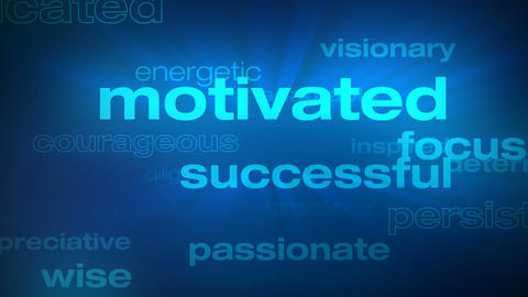 Motivational and Success Words Loop - Photo JPEG Animation