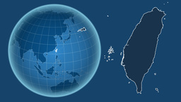Taiwan and Globe. Solids Animation