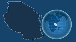 Tanzania and Globe. Solids Animation