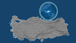 Turkey and Globe. Bumps Animation