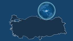 Turkey and Globe. Solids Animation