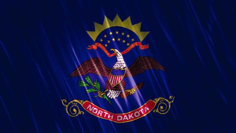 North Dakota State Loopable Flag Animation