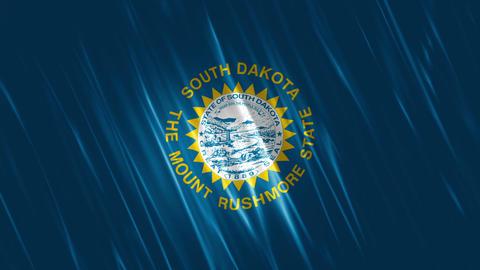 South Dakota State Loopable Flag Animation