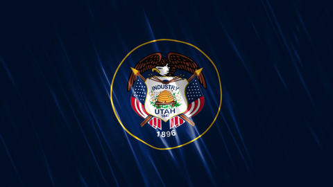 Utah State Loopable Flag Animation