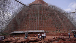 Temple in renovation,Anuradhapura,Sri Lanka Footage