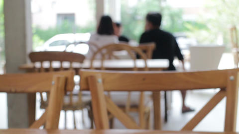 Blur environment of coffee shop with customer Live Action