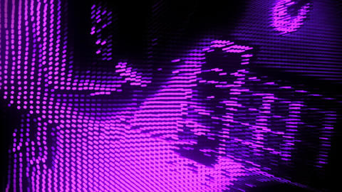 Playing a Purple Particles Guitar Abstract Motion Background V2 Animation