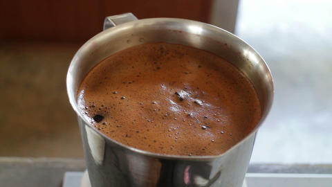 Boiling thai tea water ingredient Live Action