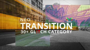 Neo Glitch Transition After Effects Template