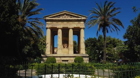 Valletta, Malta monument to Sir Alexander Ball Live Action