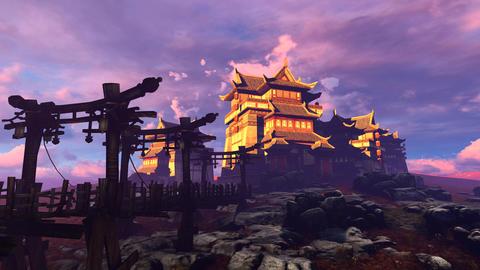 Bridge, Landscape And Building Animation