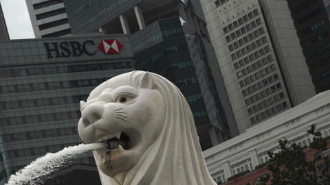 Singapore Merlion super slow Live Action