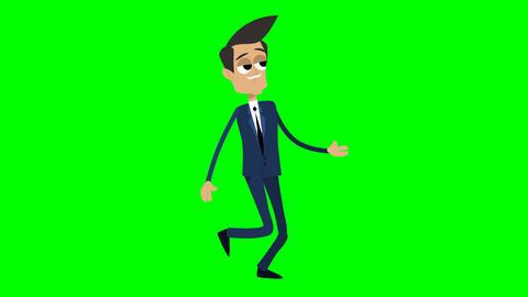Businessman Animation - cool walking Animation