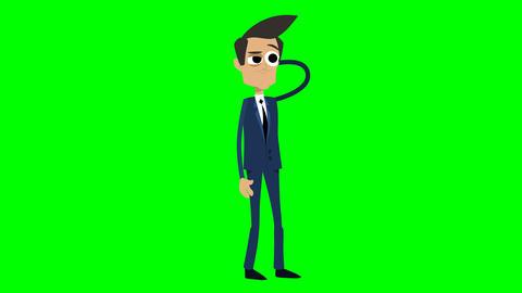 Businessman Animation - thinking Animation