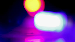 Abstract smoke background with blurry red and blue bokeh lights. Abstract police ビデオ