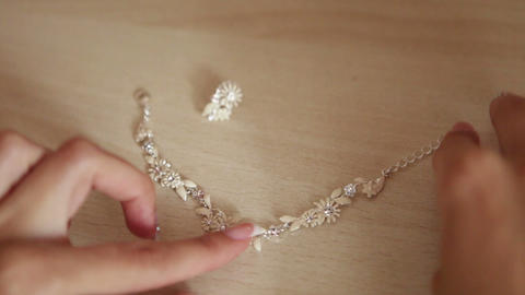 Jewelry shape of a smile Stock Video Footage