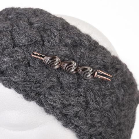 knitted headband フォト