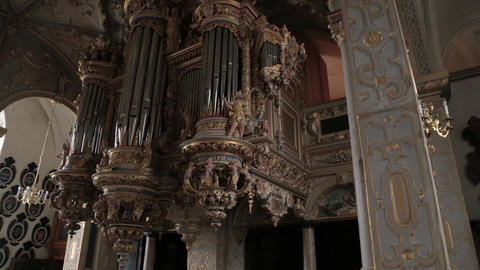 Organ in a church. Frederiksborg Castle Live Action