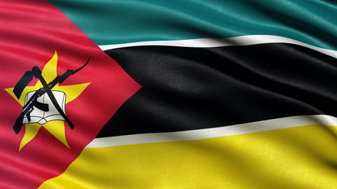 Seamless loop of Mozambique Flag Animation
