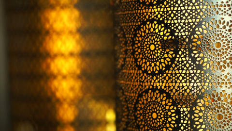 Close up of architect detail of middle east, arabic art details Footage