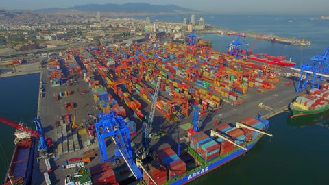 İzmir transportation Dock Footage